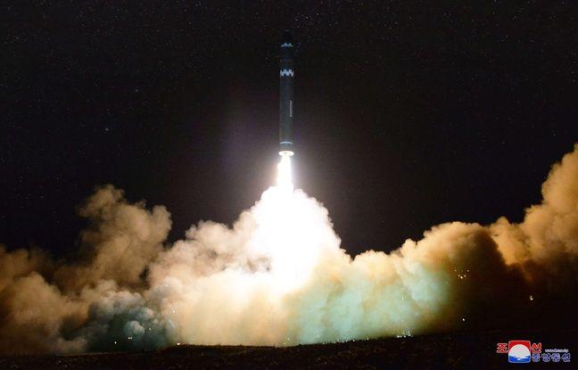 Le missile au décollage.