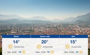Météo Grenoble: Prévisions du jeudi 9 avril 2020