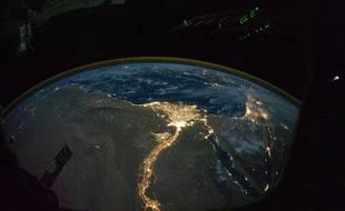 Le delta du Nil vu de l'Espace.
