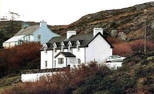La maison de Sophie Toscan du Plantier dans le sud de l'Irlande, le 24 décembre 1996.