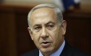 """La communauté internationale ne peut pas demander à Israël d'attendre avant d'agir vis-à-vis de l'Iran si elle n'impose pas de """"lignes rouges"""" à Téhéran sur son programme nucléaire, a affirmé mardi le Premier ministre israélien Benjamin Netanyahu."""