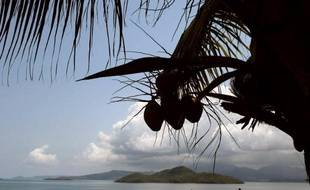 Une vue de l'Océan indien à Mayotte le 18 octobre 2009