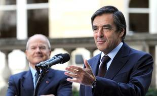 François Fillon et Marc Ladreit de Lacharrière, en 2010.