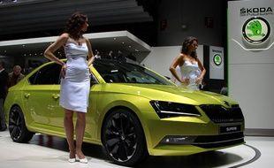 La nouvelle Skoda Superb présentée au salon de l'automobile de Genève
