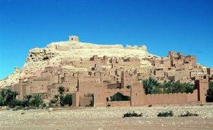 La forteresse d'Aït Benhaddou à proximité de Ouarzazate (Maroc) où Ségolène Royal et Dominique Strauss-Kahn passent leurs vacances de fin d'année 2010.