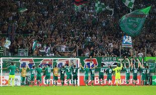Des supporters du Rapid de Vienne.