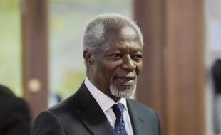 Kofi Annan en Allemagne, le 18 mars 2014.