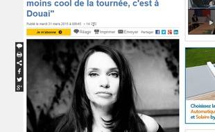 L'interview de Béatrice Dalle n'a pas plu aux Douaisiens