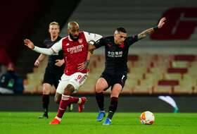 Alexandre Lacazette et Arsenal n'ont pas brillé face au Slavia Prague, jeudi en quart de finale aller de la Ligue Europa.