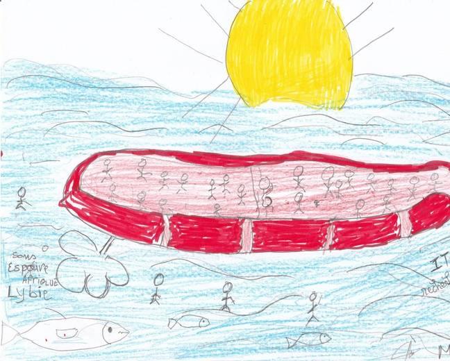 L'un des dessins de Mohammed.