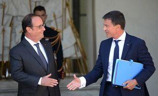 Manuel Valls et François Hollande à l'Elysée le 19 août dernier.