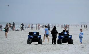 La plage de Jacksonville, en Floride, le 19 avril 2020.