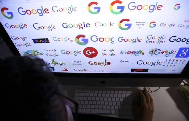 Illustration de Google sur un ordinateur.