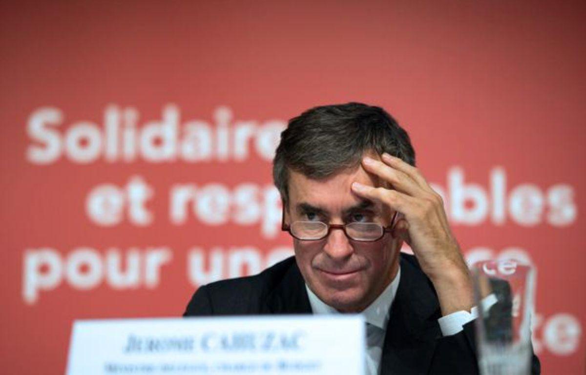 Jérôme Cahuzac, ministre du Budget, le 28 septembre 2012 à Bercy – B. LANGLOIS / AFP