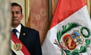 Le président péruvien Ollanta Humala à Lima le 17 février 2015