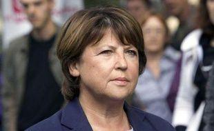 Martine Aubry, en septembre 2010 à Paris.