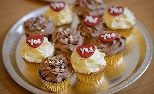 Les cupcakes réalisés à l'occasion du référendum sur l'indépendance de l'Ecosse le 16 septembre 2014 à Renfrew.