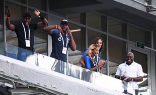 Les familles de plusieurs joueurs de l'Equipe de France, lors de la Coupe du Monde 2018.