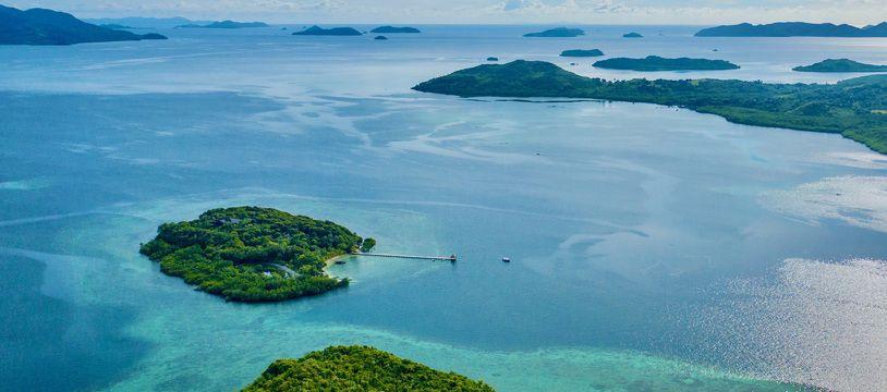 L'île de Pangatalan située dans la partie Nord Est de l'archipel de Palawan (1200 îles) aux Philippines.