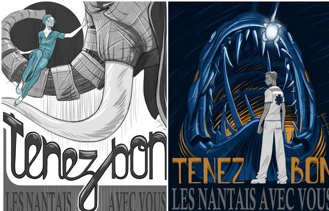 Coronavirus à Nantes: Le touchant soutien d'un dessinateur aux professions en première ligne