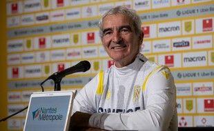 Raymond Domenech pendant la conférence de presse.