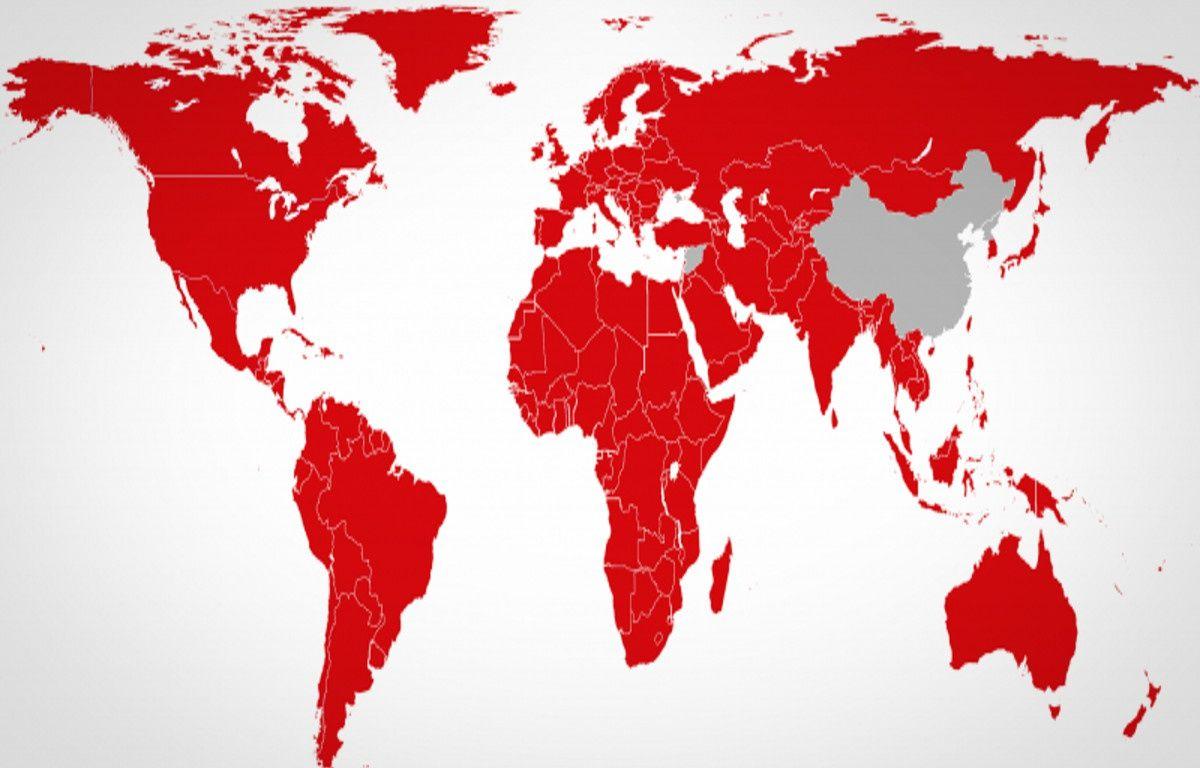 Netflix est désormais disponible dans tous les pays du monde sauf la Chine, la Crimée, la Corée du Nord et la Syrie. – NETFLIX