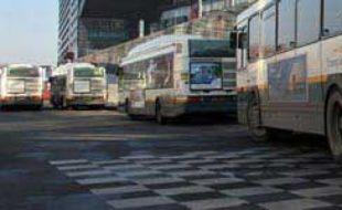 Les bus de la compagnie Transpole, à Lille