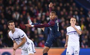 MBappé durant le match PSG-Anderlecht, le 31 octobre au Parc des Princes.
