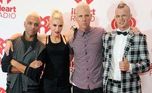 Tony Kanal, Gwen Stefani, Tom Dumont et Adrian Young du groupe No Doubt, en septembre 2012.