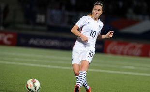 La Rennaise Camille Abily, ici lors d'un match amical entre la France et l'Écosse, le 28 mai 2015.