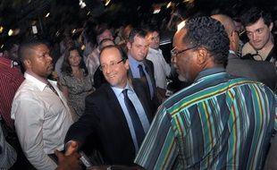 François Hollande lors de son déplacement àCayenne, le 15 janvier 2012.
