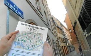 Rue Frédéric-Piton, une ruelle perpendiculaire à la place Kléber recensée sur la carte, le pipi sauvage est un fléau.
