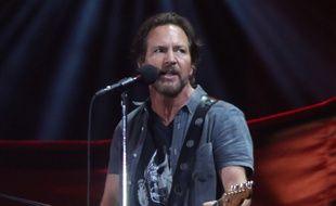 Le leader de Pearl Jam, Eddie Vedder, au Global Citizen festival