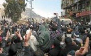 Manifestation à Damas, le 18février.