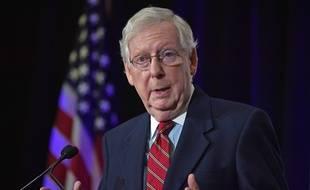 Présidentielle américaine: Le chef des sénateurs républicains apporte un soutien en demi-teinte à Donald Trump (Archives)