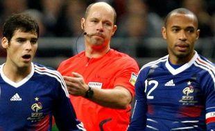 Gourcuff, Martin Hansson et Thierry henry lors de France-Irlande, le 18 novembre 2009.