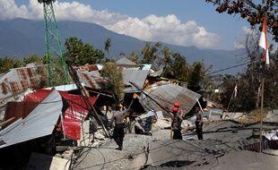 Les dégâts sur l'île de Palu, en Indonésie, après le sésime et le tsunami qui ont touché l'île, le 28 septembre 2018.