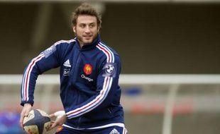 Maxime Médard à l'entraînement avec le XV de France le mardi 5 mars 2013.