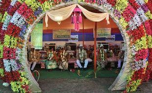Mariage de masse en Inde pour la Saint-Valentin 2018.