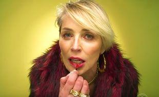Sharon Stone dans un clip de rap parodique.