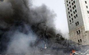 Damas a été frappée lundi par un puissant attentat suicide à la voiture piégée ayant fait au moins 15 morts et 53 blessés selon les médias officiels, la première attaque du genre en plein centre de la capitale.