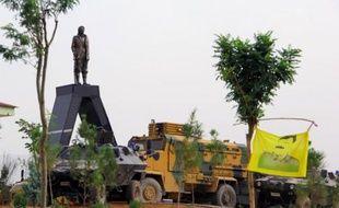 Statue de Mahsum Korkmaz, l'un des fondateurs du PKK, le 19 août 2014 à Diyarbakir