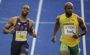 Tyson Gay et Asafa Powell lors des championnats du monde d'athlétisme, en 2009, à Berlin.