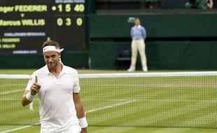 Marcus Willis contre Roger Federer le 29 juin 2016.