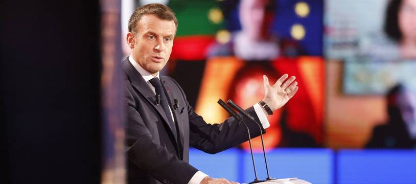 Emmanuel Macron au Parlement européen de Strasbourg, ce 9 mai.