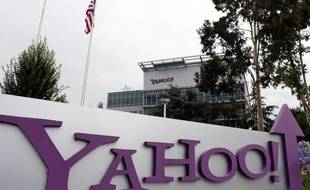 SUNNYVALE, CA - JULY 17: The Yahoo logo is displayed in front of the Yahoo headqarters on July 17, 2012 in Sunnyvale, California. Yahoo will report Q2 earnings one day after former Google executive Marissa Mayer was named as the new CEO. Photo by Justin Sullivan/Getty Images) Justin Sullivan/Getty Images/AFP