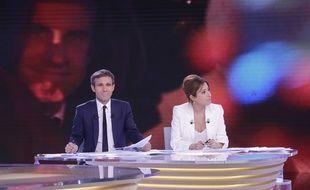 David Pujadas et Léa Salamé ont animé la soirée électorale du 23 avril sur France 2