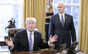 Donald Trump et Mike Pence à la Maison blanche le 24 mars 2017.