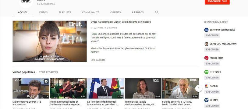 Le média Brut sur YouTube.