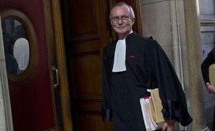 Patrick Baudouin, l'avocat d'Adlène Hicheur, lors de l'audience au tribunal correctionnel de Paris, le 29 mars 2012